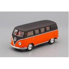 Машинка Kinsmart VOLKSWAGEN Classical Bus (1962), matte black / matte orange
