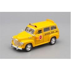 Машинка Kinsmart CHEVROLET Suburban School Bus (1950), yellow