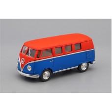 Машинка Kinsmart VOLKSWAGEN Classical Bus (1962), matte red / matte blue