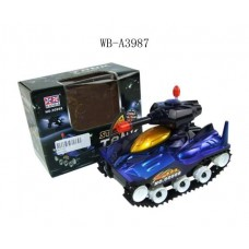 Танк эл/мех со звуковыми и световыми эффектами, для детей от 3 лет, 3 батарейки АА (Китай, 968)