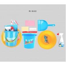Набор для уборки, 7 предметов в наборе, в сетке, 20,5x20,5x14,5см (Китай, 90)