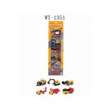 Машины строительные металлические (6 штук в наборе), 11.7x4x42.5см (Китай, 1803-4B)