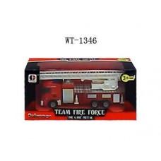 Машина пожарная металлическиая, 19.5x6.5x8.7см (Китай, 1814-1C)