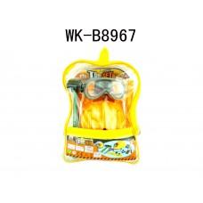 Набор инструментов в прозрачном рюкзаке, 10 предметов в наборе, 29x20x9см (Китай, 2145)