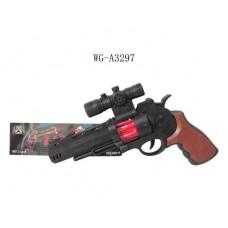 Пистолет со световыми эффектами, 3 бат. типа AA (не входят), 27 x 20 x 5 см. (Китай, 239-3)