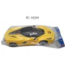 Машина гоночная (желтая), инерционная 1:16, в пакете