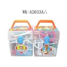 Набор доктора, 23 предмета, пластмасса, в чемодане, 28х19,5х36,5см (Китай, 3812A)