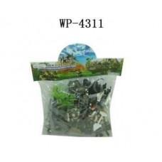 Солдатики пластмассовые в наборе с аксессуарами, 21 шт, в пакете, 19х18х6см (Китай, 5508J)