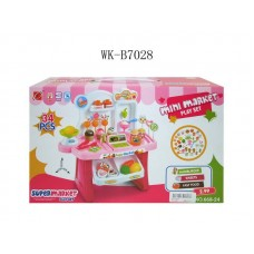 Набор Мини супермаркет, 34 предмета, световые и звуковые эффекты, 37x12x22,5см (Китай, 668-24)