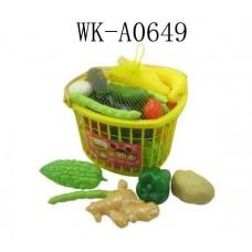 Набор овощей в корзинке, 25 предметов, в сетке, 27х24х19,5см (Китай, 699j)