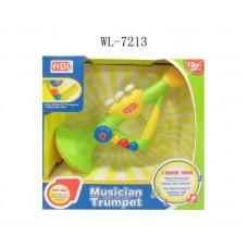 Труба для малышей, от 1 года, звуковые и световые эффекты, 26x26x11см (Китай, 777-3)