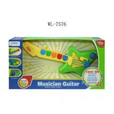 Гитара для малышей, от 1 года, звуковые и световые эффекты, 44,5x23x6,5см (Китай, 777-4)