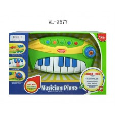 Пианино для малышей, от 1 года, звуковые и световые эффекты, 32,5x20,5x7см (Китай, 777-5)