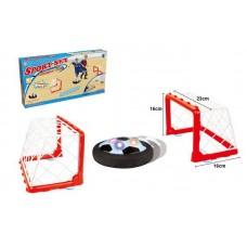 Набор для игры в диск-мяч (ворота 2 шт,, диск), диаметр 14 см, со световыми эффектами (Китай, 789-19D)