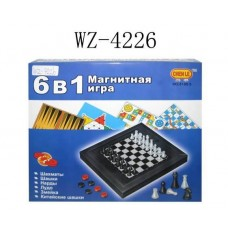 Игра настольная магнитная 6 в 1 (Китай, 8188-5)