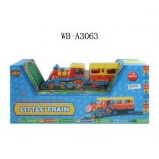 Железная дорога (паровоз, набор трэков (22)), эл/мех со световыми и звуковыми эффектами 56x12x25см (Китай, 8588A)