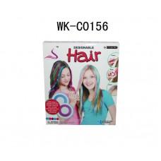 Мел для волос (мягкая щетка для волос, мелки 3 шт)14х16х5 см (Китай, 89020)