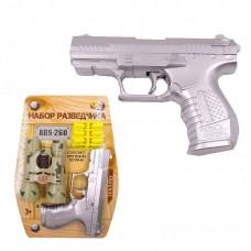"""Пистолет """"Набор разведчика"""" (пистолет металлик, бинокль, 12 пуль) (Китай, ARS-260)"""