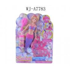 Русалочка, пускающая пузыри, в наборе с мыльными пузырями и расчесткой, 22x30x5см (Китай, BLD064)