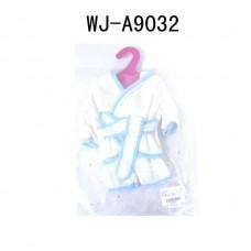 Одежда для кукол: банный халатик (белый цвет), 25x2x38см (Китай, GC18-4)