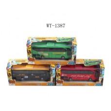 Автобус металлический, инерционный, со световыми и звуковыми эффектами  в коробке 27,5х11,5х8,5 см (Китай, JY777/888/999)