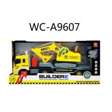 Автовоз в наборе с экскаватором, инерционный, световые и звуковые эффекты, 42x11,5x19,5см (Китай, MY570A)