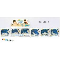 Динозавр для раскрашивания в наборе с красками, 6 шт в дисплейной коробке 18x6x16см (Китай, Q9899-155A)