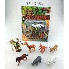 Набор диких животных,7 предметов в наборе, 19x19x3см (Китай, QT018)