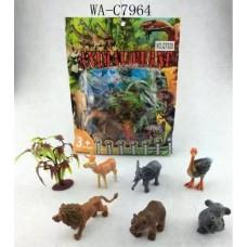 Набор диких животных,7 предметов в наборе,19x25x4см (Китай, QT020)