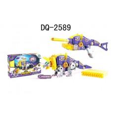 Dinobots 2в1 робот-бластер, фиолетовый, 50х32х15 см