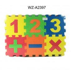 Коврик-пазл Изучаем цифры,30 предметов, 25,5x17,5x5,5см (Китай, TH-64001)