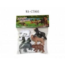 Набор диких животных, 6шт, 28.5x34см (Китай, Y167)