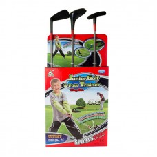 Набор для игры в гольф, 27x60x8см в наборе: 3 клюшки для гольфа, 3 шарика, 1 коврик, 1 подставка с лункой (Китай, YF313A)