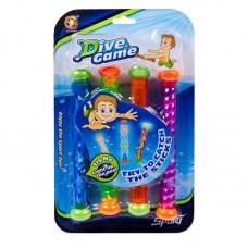 Игры с водой. Набор из 4х светящихся водонепроницаемых палочек (Китай, YG27S)
