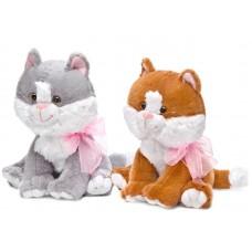 """Котёнок сидящий малый музыкальный 20 см, звук """"Погладь меня"""" (LAVA, Л1020A)"""