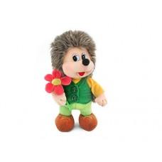 """Ёжик с цветком стоящий музыкальный 25 см, звук """"Ежонок-это я"""" (LAVA, Л1112)"""