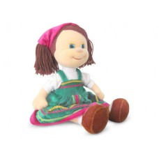 """Кукла Алёнушка в русском сарафане музыкальная 26 см, звук """"Я в садочке была"""" (LAVA, Л1209)"""