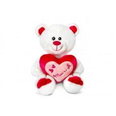 """Медведь Амурчик с сердцем музыкальный 18 см, звук """"Как мне хорошо с тобой"""" (LAVA, Л1229)"""