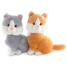 """Кошка двухцветная мини музыкальная 22 см, звук """"Погладь меня"""" (LAVA, Л176В)"""