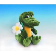 """Крокодил Гоша с ромашкой музыкальный 24см , звук """"Друг такой мне очень нужен"""" (LAVA, Л657)"""