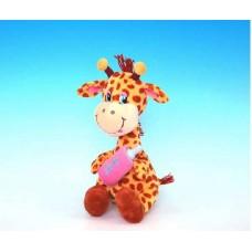 """Жирафик с бутылочкой маленький музыкальный 27см, звук """"В пятнышках моя рубашка"""" (LAVA, Л8281А)"""