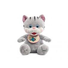 """Котёнок в слюнявчике музыкальный 20 см, звук """"Где твоя ложечка?"""" (LAVA, Л8623)"""