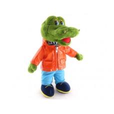 """Крокодил стоящий в одежде музыкальный 30 см, звук """"Друг такой мне очень нужен"""" (LAVA, Л998)"""