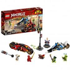 Конструктор LEGO NINJAGO Мотоцикл-клинок Кая и снегоход Зейна