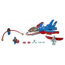 Конструктор LEGO SUPER HEROES Воздушная погоня Капитана Америка (LEGO, 76076-L)