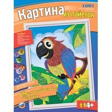 Картина из пайеток Пёстрый попугай (ЛОРИ, Ап-001)