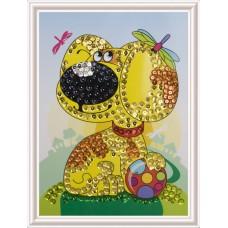 Картина из пайеток Игривый щенок (ЛОРИ, Ап-034)
