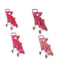 Коляска для двух кукол, с крышей, ремешками для фиксирования кокол и подножкой 59*34*65 см, Buggy Boom Mixy (MELOBO, 8843)