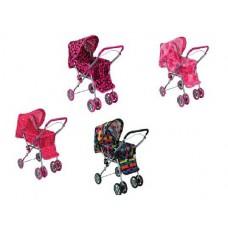 Коляска для кукол, перекидная ручка, поворотные колеса, регулируемая спинка, с крышей, 61*33*62 см, Buggy Boom Mixy (MELOBO, 8847)