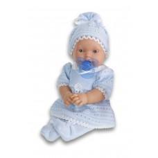1109B Antonio Juan Кукла-младенец Лана в голубом плачет 27см.